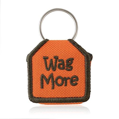 The Tag Bag - Dog Tag Silencer (Wag More/Orange)