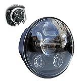 Locisne 5-3 / 4 '5.75' Runde LED Projektion Daymaker Scheinwerfer für Harley Davidson Kickfaire Motorrad Projektor Lichter 45W 9 LED Birne Scheinwerfer Aluminium Lampe