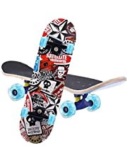 Skateboard Complete 7 Layers Deck 80 * 20cm Skateboard Maple Wood Longboards for Adults Teens Youths Beginners Girls Boys Kids