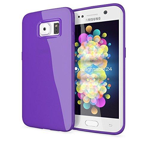 NALIA Custodia compatibile con Samsung Galaxy S6 Edge Plus, Cover Protezione Ultra-Slim Case Protettiva Morbido Cellulare in Silicone Gel, Gomma Jelly Telefono Bumper - Viola