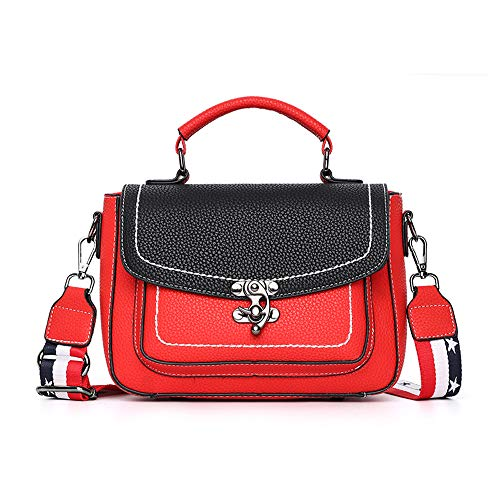 Nevenka PU Leather Women Crossbody Bag Shoulder Bag Satchel Handbags Fashion Bag (JW186Red)