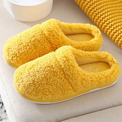 XYLZDPZ Syczdntx Zapatillas de algodón Autum Invierno Nuevo Zapatos DE CASA for LOS ZAPINADORES DE POLLADA DE POLLADA DE Pulso Pulso Suave for Las FULLES ANTERIORES DE FOM Zapatillas casa Mujer