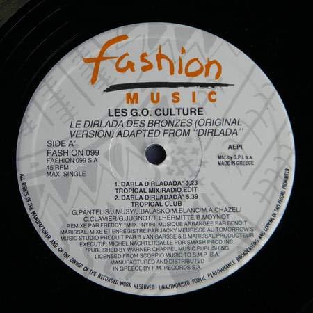 Les G.O. Culture - Le Dirladada Des Bronzes (Original Version) Adapted From...