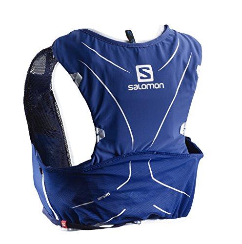 Salomon Mochila ligera para running, senderismo o ciclismo, 5 L, 36 x 20 cm, 310 g, ADV SKIN 5 SET, Talla: XL, Azul, L40139500