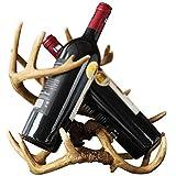 Botelleros Estantes para Vino Porche De Estilo Europeo Decoración para Sostenedores De Vino Muebles Artesanales para El Hogar Estante para Licores, Sala De Estar Mesa De Comedor Gabinete