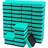 Mini Dry Erase Erasers, IHPUKIDI 48 Pack Magnetic Whiteboard Dry Erasers Chalkboard Cleaner Wiper for Kids and Classroom Teacher Supplies, Home and Office (2 x 2 Inch) Green