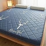 kkcd materasso futon pieghevole per dormitorio studentesco,materasso giapponese pieghevole,materassino antiscivolo tatami,letto pieghevole giapponese doppio,materasso tatami,e,180x200cm(71 * 79inch)