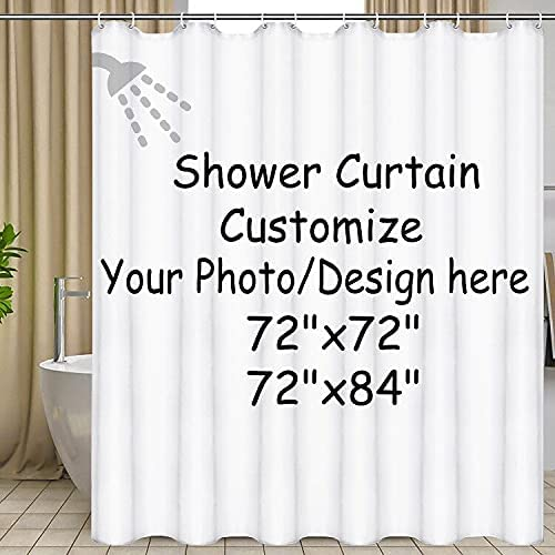 DIDIFLY Custom Shower Curtain with Waterproof Upload Your Hooks Detroit Mall specialty shop