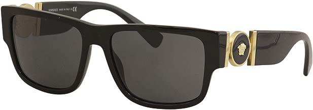 Versace Man Sunglasses, Black Lenses Acetate Frame, 58mm