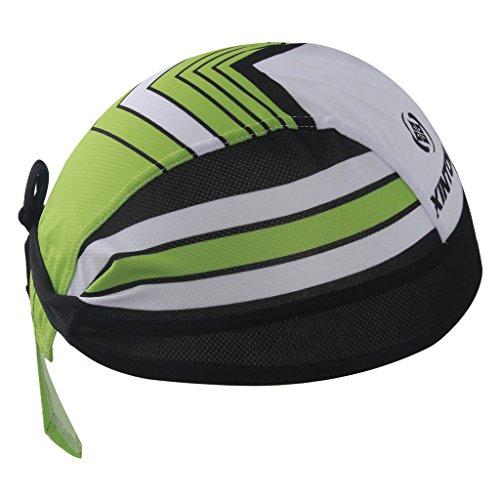 bicicletta Bandana sportiva ad asciugatura rapida protegge dai raggi UV moto o per essere indossata sotto al casco corsa 2 Pack of Black ideale per ciclismo