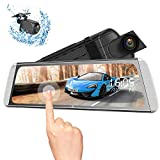 Campark R10 Backup Camera 10' Mirror Dash Cam Video Streaming Rear View Mirror Dual-Lens 1080P Camera with Travelapse, 24H's Parking Monitor and GPS