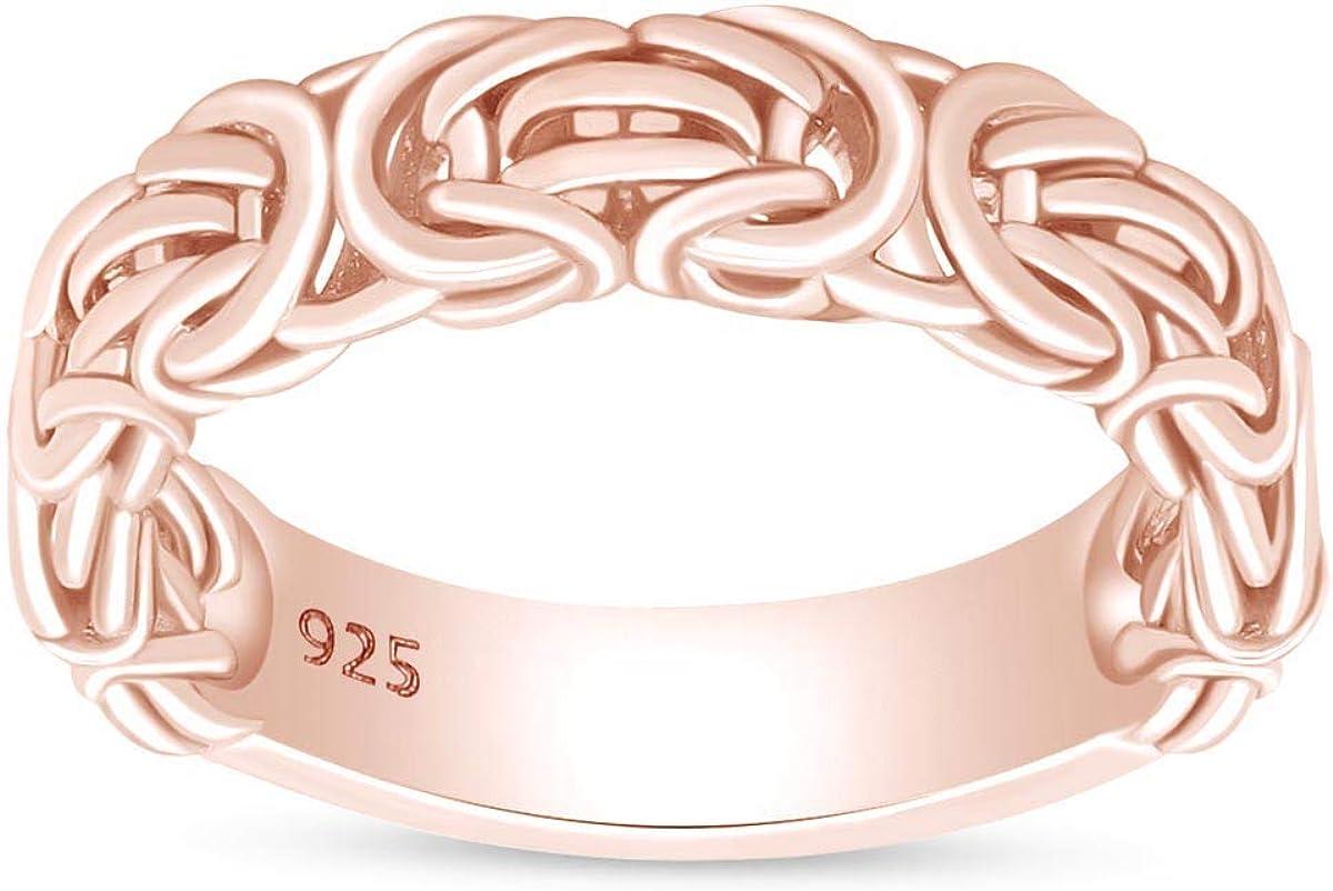 公式サイト AFFY 14k Gold Over Sterling 優先配送 Silver Jewelry En for Ring Byzantine