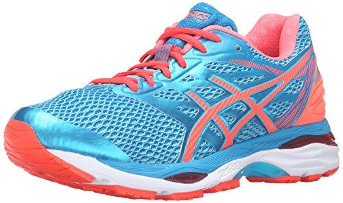ASICS Zapatillas de correr Gel-Cumulus 18 para mujer, Azul (Aquarium/Flash Coral/Blue Jewel), 6 2A US
