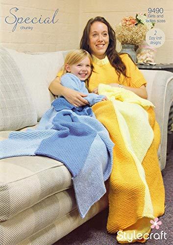 Stylecraft 9490 breien patroon Womens meisjes prinses dekens in Stylecraft speciale Chunky