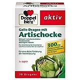 Doppelherz Galle-Dragee mit Artischocke – Pflanzliches Arzneimittel aus Artischockenblättern – Für die aktive Förderung der Fettverdauung – 50 Dragees