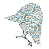 Cassiecy Baby Sonnenhut Kinder Unisex Sonnenmütze Atmungsaktiver Kinder Strand Mützen mit Bindebändern und Nackenschutz Sommermütze(jy,l)