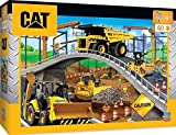 MasterPieces The Right Fit Kids Caterpillar Jigsaw Puzzle, Under the Bridge Construction Trucks, Tillywig Top Fun Award, 60 Piece, For Age 5+