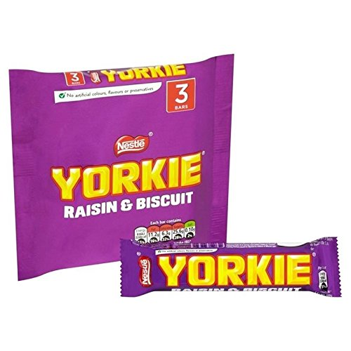 Nestle Yorkie Raisin Et De Biscuit 3 X 44G - Paquet de 6