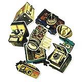 BLOUR Caméra nostalgique Cool Graffiti Autocollant Valise Trolley Case Étanche Rétro Caméra Vintage Gramophone DIY Style Autocollant 9 pcs