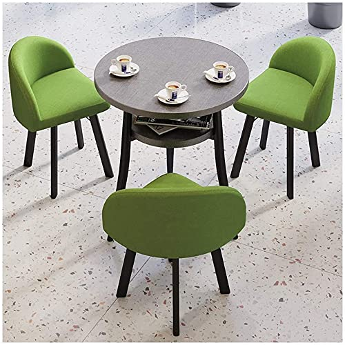 Set da tavolo da pranzo per cucina o dell'hotel, 1 tavolo e 3 sedie 60 cm / 70 cm / 80cm Tavolo doppio strato Balcone Balcone Bedroom Home Ristorante Hotel Hospital ( Color : Green , Size : 80cm )