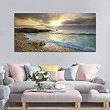 AVANI EXCHANGE Beach Canvas Print Ocean Wave Sunset Sea No Frame Paintings Art Wall Home Decor