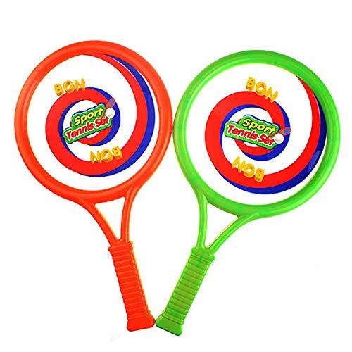 ZCHPDD Mehrzweck-Tennisschläger für Kinder Fitness Intelligence Development für Outdoor-Sportarten Kinder Tennis Set Tennis Tasche und Bälle für Jungen Mädchen orange/Green 18cm 3 Sets