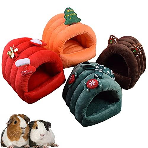 Oncpcare Navidad Guinea Pig Cama Invierno Clido Azcar Planeador Casa Pequeo Animal Jaula Accesorios Ropa de cama para Rata Erizo