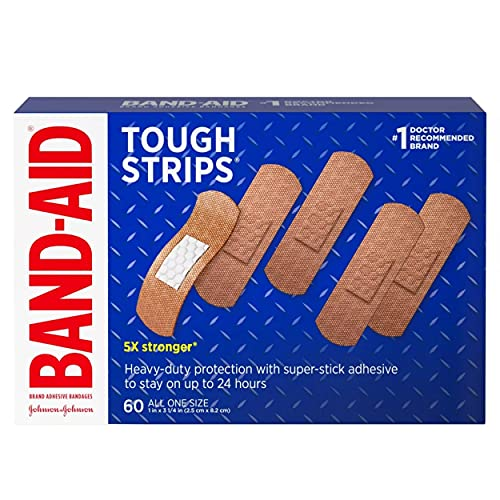 Band-Aid Brand Tough-Strips Adhesive Bandage for Minor Cuts & Scrapes, All One Size, 60 ct (Limited...