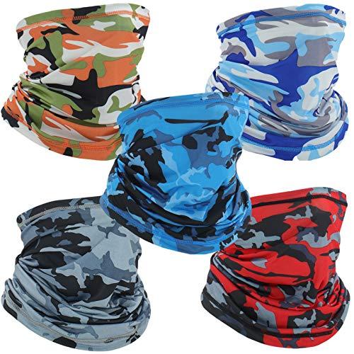 Neck Gaiter Face Mask Mens Womens Balaclavas,Uv Face Shield Cloth Face Cover Scarf,Bandanas Multipurpose Headwear Camouflage