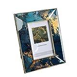 xiaoli Marco de Fotos Marcos de Fotos, Que Viven decoración de la habitación de Acero Inoxidable Marco de Fotos lámina de Oro Estructura de Metal Portarretratos Muebles (tamaño : 4 * 6'')