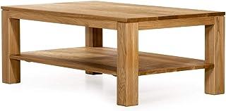 Marque Amazon -Alkove - Hayes - Table basse en bois massif avec étagère, rectangulaire, Chêne sauvage