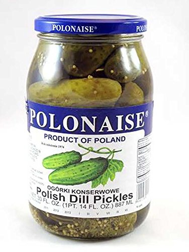 Polonaise Polish Dill Pickles Pack of 4 Jars (17.3 fl oz)