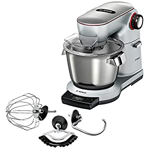 Bosch MUM9AE5S00 OptiMUM Robot de cocina, capacidad de 5,5 litros, 7 velocidades y función turbo, 1500 W, color gris