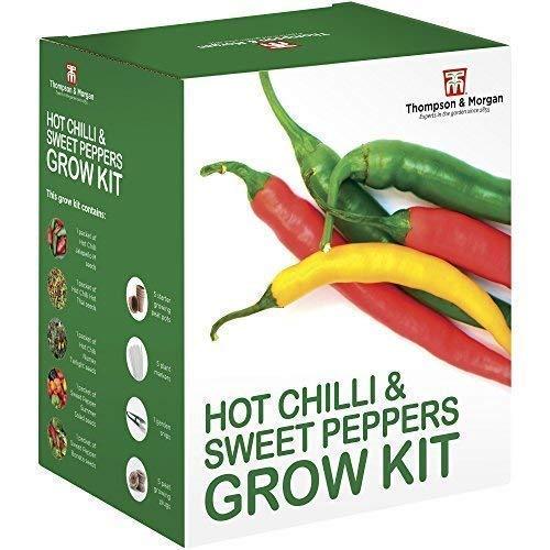 Thompson & Morgan Wachsen Sets Geschenk Boxen - Chili & Pfeffer