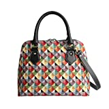 Signare tapiz mochila bandolera bolsos pequeños para mujer con diseño de patrón de moda (Colorido geométrico)