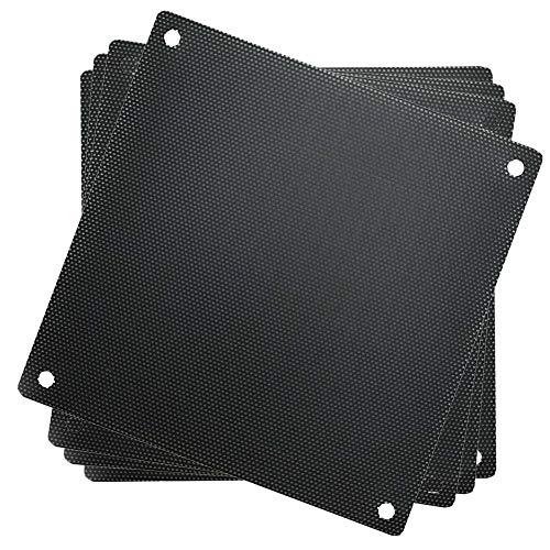 120mm en PVC ordinateur PC Cooler ventilateur Coque étanche à la poussière Maille filtre à poussière Grill (lot de 10), Noir