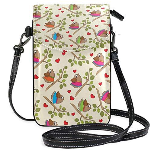 XCNGG Búho árbol gafas teléfono celular monedero bandolera bolsa bolsos de hombro billetera para mujeres niñas viajes boda