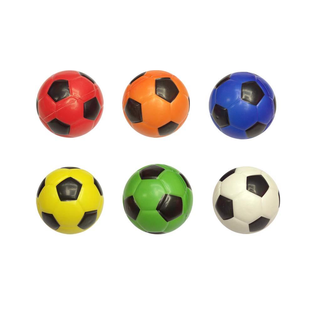 NUOBESTY Squeeze Toy - Mini Pelotas de fútbol Coloridas para ...