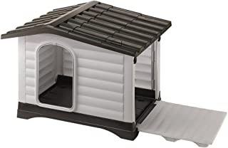 Ferplast Dog Kennel DOGVILLA 90, Side Panel with Opening System, 34, 65x28, 35xH 25, 59-Inch