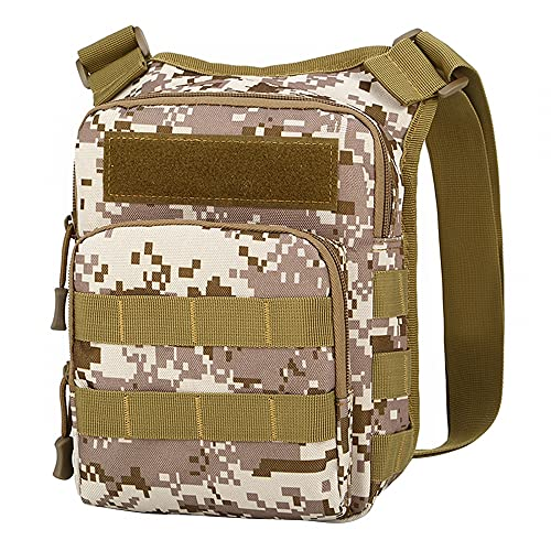 MEROURII Tactical Backpack, Military Shoulder Pack Water Resistant Military Molle Backpack for Hiking Climbing Sports