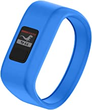 NotoCity Compatible with Garmin Vivofit JR/JR 2/3 Bands,Soft Silicone Replacement Watch Bands for Boy Girls Kids,Blue Large