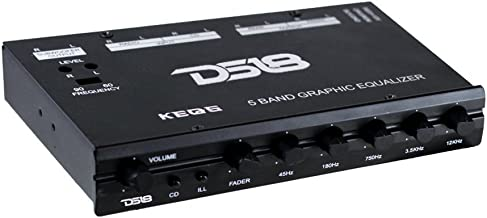 DS18 DS-KEQ5 DS18 Five Band Graphic Equalizer Six Channel/Five Volt RCA Subwoofer Level..