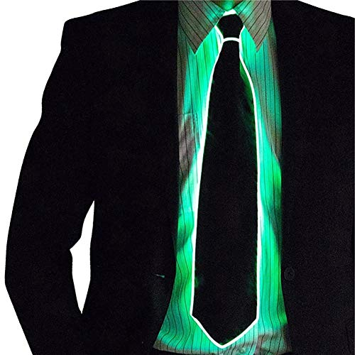 Egosy LED Herren Light Up Krawatten, Kostümzubehör Light EL Tie für Halloween Elegante Party Kostüme \'Bar Performance Hut