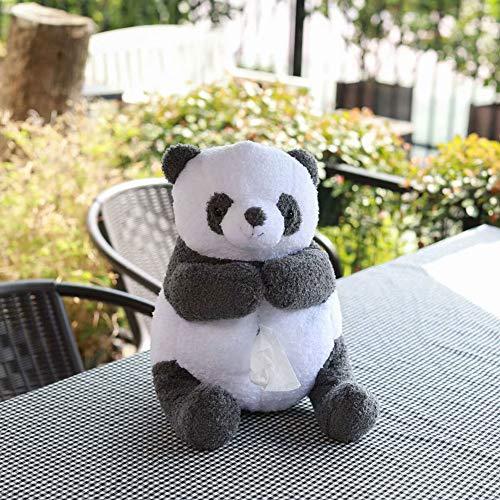 NFJMWM Niedliche Tissue Box, Panda Tissue Box Halter Spielzeug Cartoon Tier Tissue Papierhalter Fall Für Auto Home Badezimmer Küche Büro,A,30 * 15cm