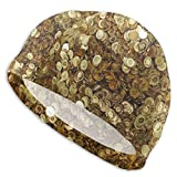 huatongxin Gold Flashing Currency Badekappen für Männer und Frauen Are Also Suitable for Boys and...