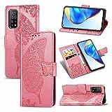 Yiscase Étui pour Xiaomi Mi 10T Pro Étui en cuir PU en cuir Filp Wallet Étui de protection à...