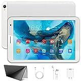 Tablet 8 Pulgadas - Google Android 10.0 Certificado por Google GMS, 3GB de RAM + 32GB de ROM/128GB,Cuatro-Core, 1280 × 800 IPS ,Batería 6500mAh,WiFi, Bluetooth(Plata)