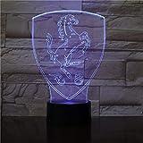 Lámpara de mesa 3D de dibujos animados creativos Luz de noche LED Pegasus linterna decoración de fiesta regalo de vacaciones