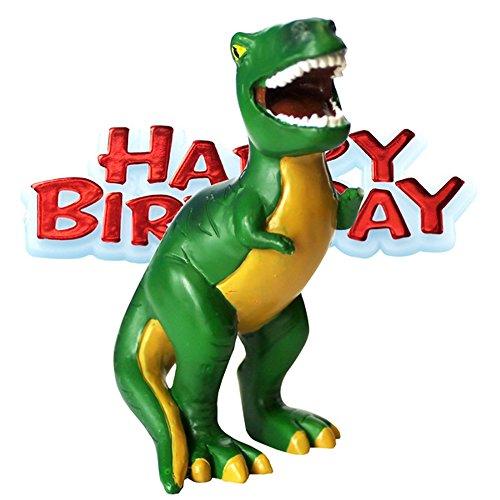 Creative Party - Decorazione per Torta con Dinosauro e Happy Birthday (One Size) (Multicolore)