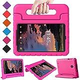 BMOUO Kids Case for Alcatel Joy Tab 8/3T 8 Tablet 2018/Alcatel A30 Tablet 8 2017, Lightweight Kid-Proof Handle Stand Case for Alcatel Joy Tab 2019/ Alcatel 3T 2018/ Alcatel A30 2017 8 - Rose